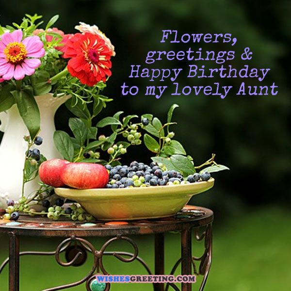 Flowers Greetings & Happy Aunty Birthday Wishes