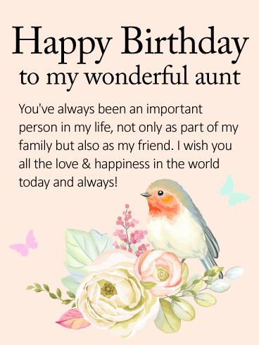 Happiness In The World Today Aunty Birthday Wishes