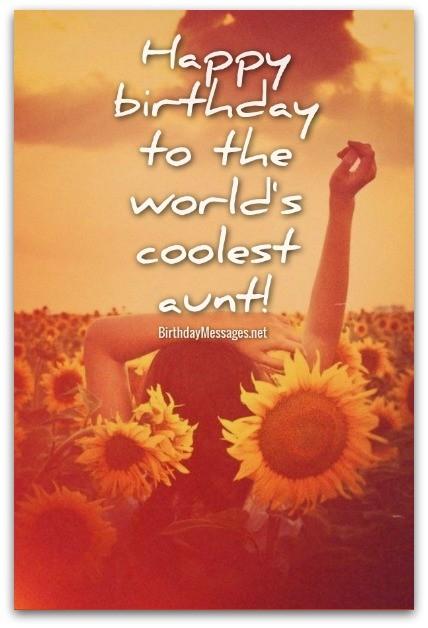 Happy Birthday To The World Aunty Birthday Wishes