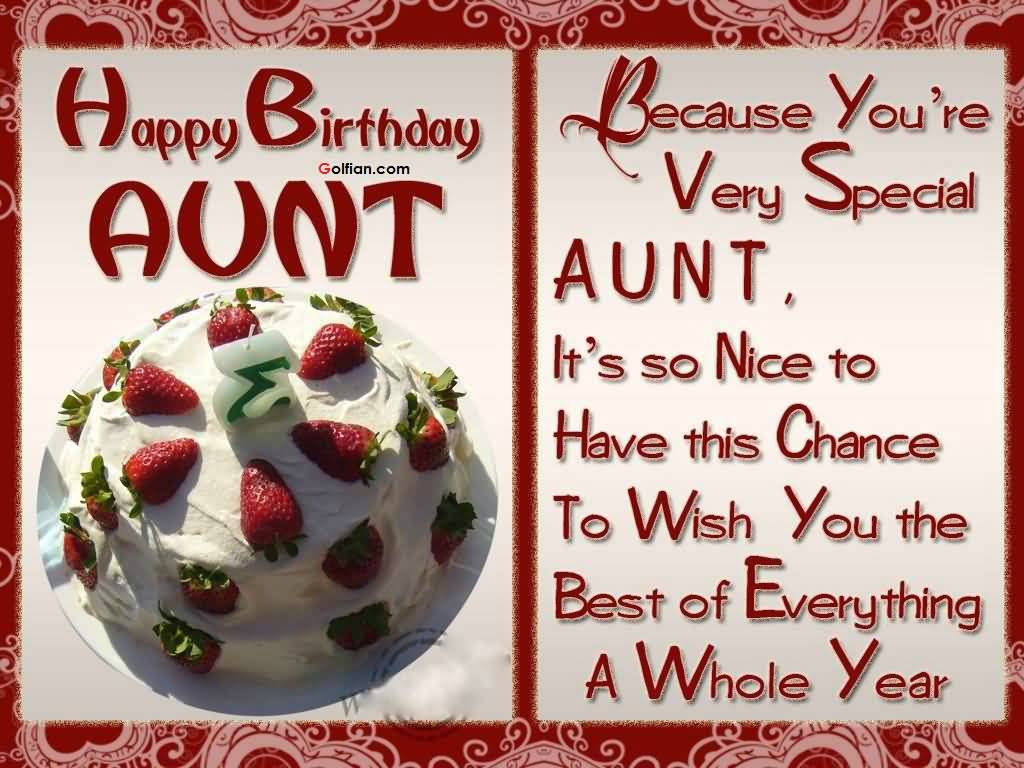 It's So Nice To Have Aunty Birthday Wishes