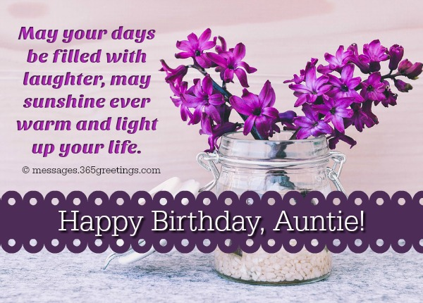 May Your Days Be Filled Aunty Birthday Wishes