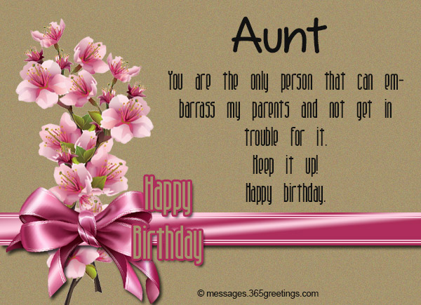 You Are The Only Person Aunty Birthday Wishes