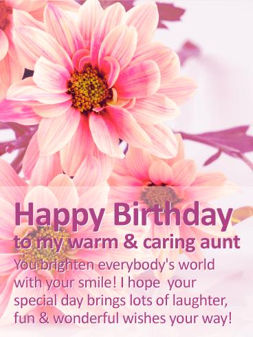 You Brighten Everybody's World Aunty Birthday Wishes