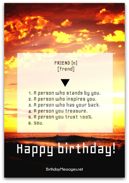 A Person Who Stands Friend Birthday Wishes