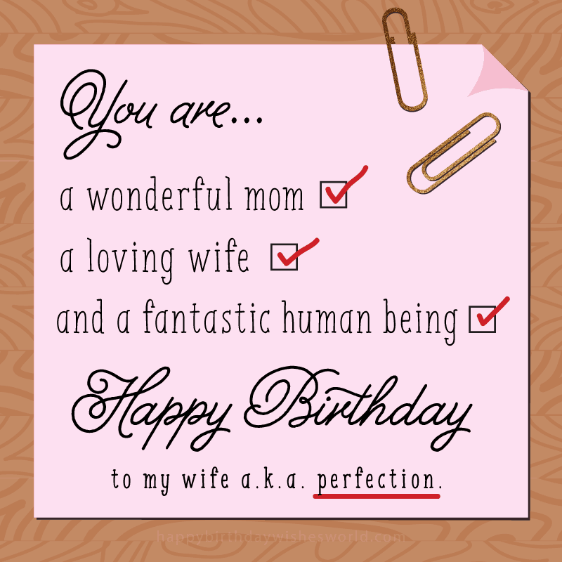 A Wonderful Mom A Loving Wife Birthday Wishes