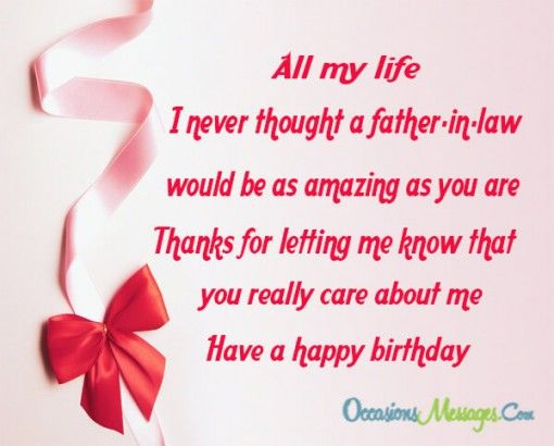 All My Life I Never Father In Law Birthday Wishes