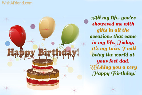 All My Life You're Dad Birthday Wishes