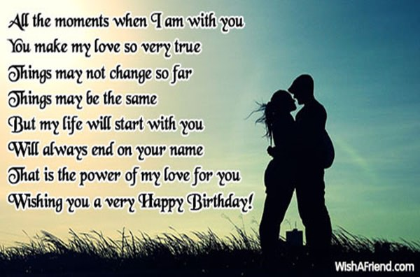 All The Moments When I Couple Birthday Wishes