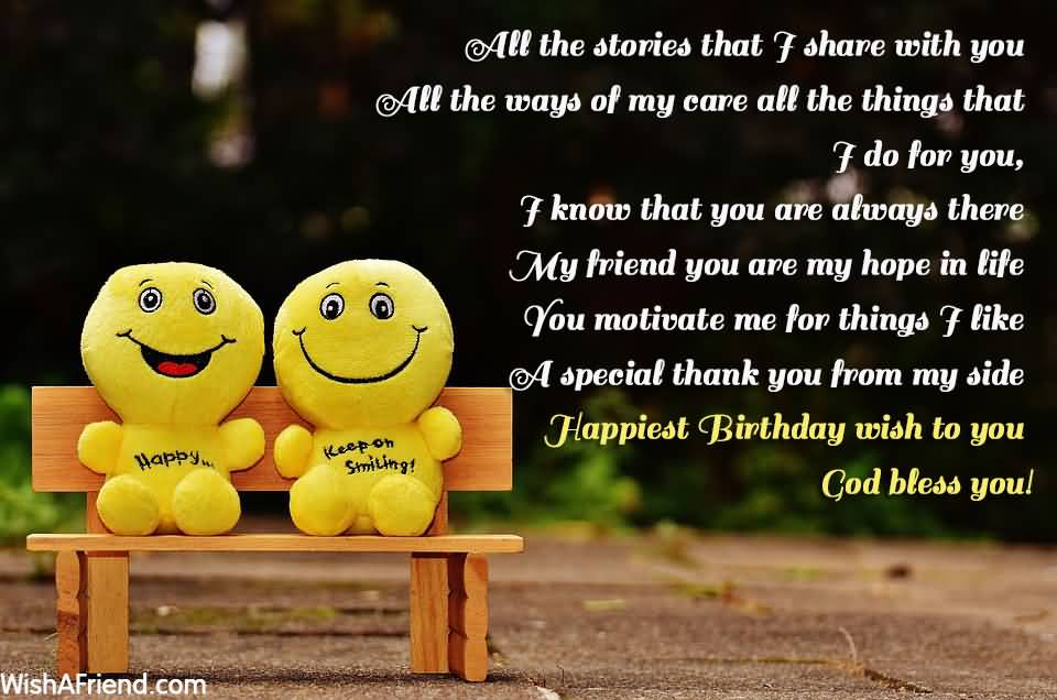 All The Stories That Friend Birthday Wishes