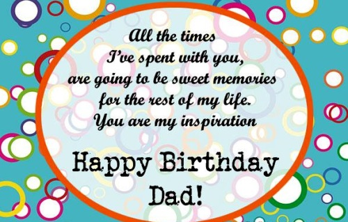 All The Times I've Spent Dad Birthday Wishes