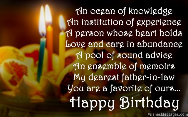 An Ocean Of Knowledge Father In Law Birthday Wishes