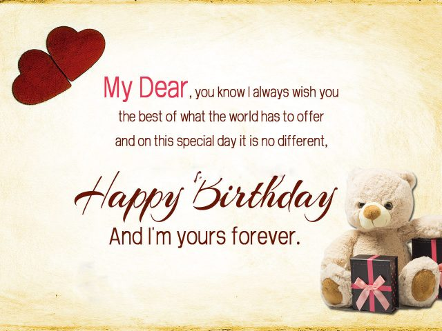 And I'm Your Forever Husband Birthday Wishes