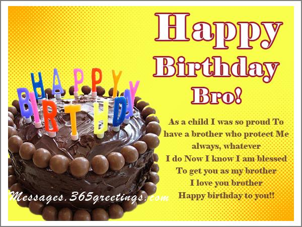 As A Child I Brother Birthday Wishes
