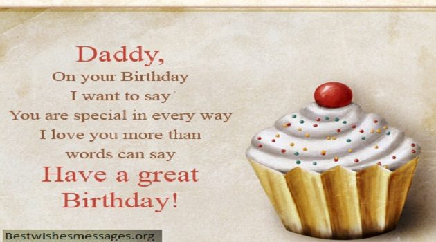 Daddy On Your Birthday Dad Birthday Wishes