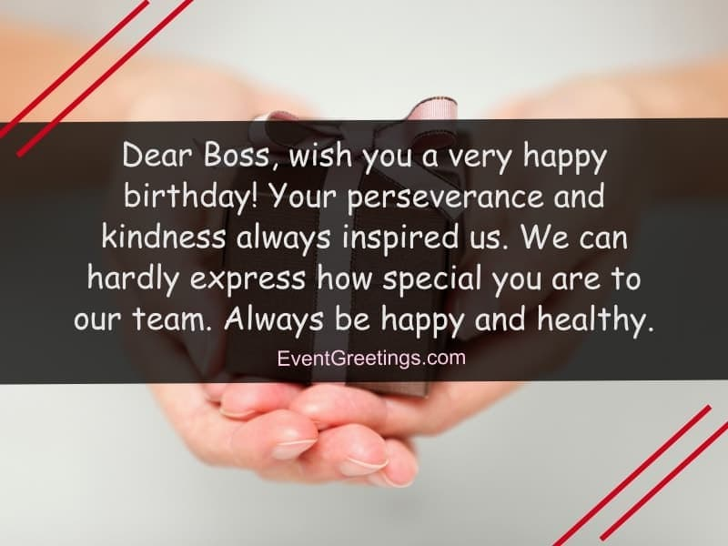 Dear Boss Wish You Boss Birthday Wishes