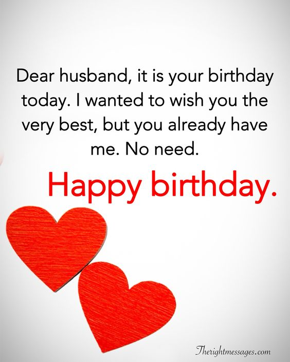 Dear Husband It Is Your Husband Birthday Wishes