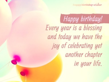 Every Year Is A Blessing  Teacher Birthday Wishes