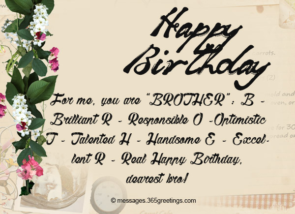For Me Your Are Brother Brother Birthday Wishes
