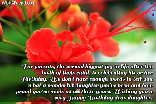 For Parents The Second Parents Birthday Wishes