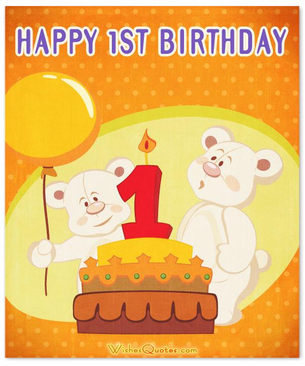 Happy 1st Birthday Cake Baby Boy Birthday Wishes