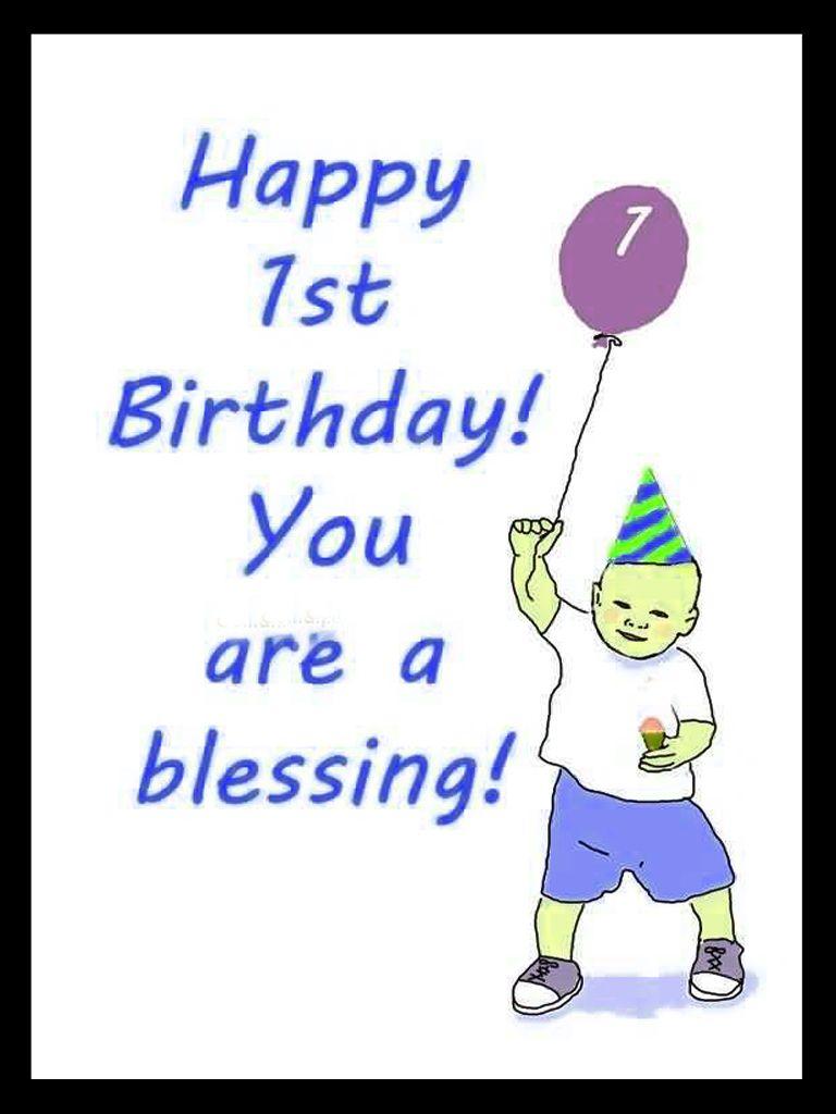 Happy 1st Birthday You Baby Boy Birthday Wishes