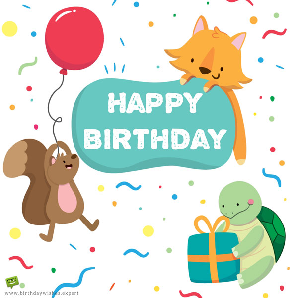 Happy Birthday Animals Wish Kids Birthday Wishes