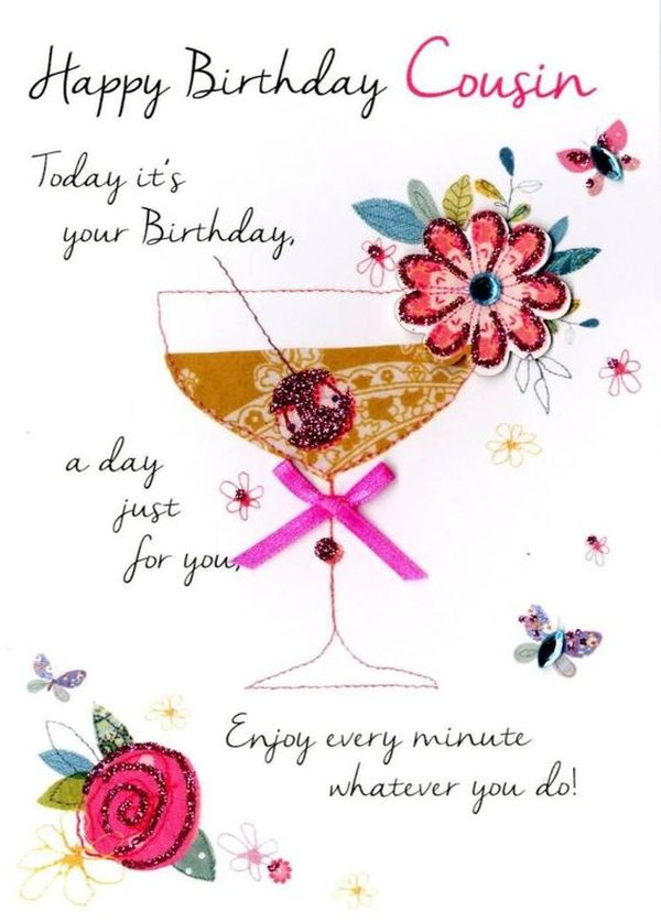Happy Birthday Cousin Today Cousin Birthday Wishes