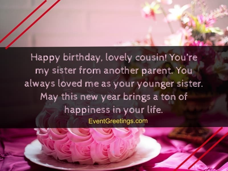 Happy Birthday Lovely Cousin Cousin Birthday Wishes