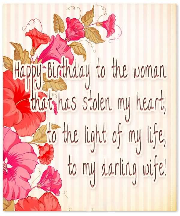 Happy Birthday To The Wife Birthday Wishes