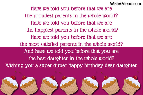 Have We Told You Parents Birthday Wishes