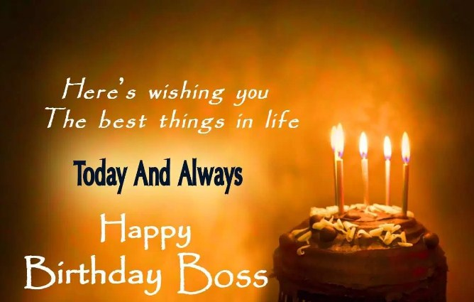 Here's Wishing You The Boss Birthday Wishes