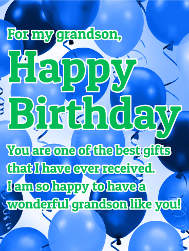 I Am So Happy Grandson Birthday Wishes