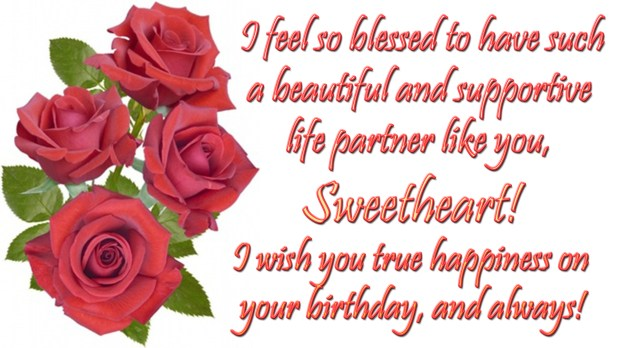 I Feel So Blessed Wife Birthday Wishes
