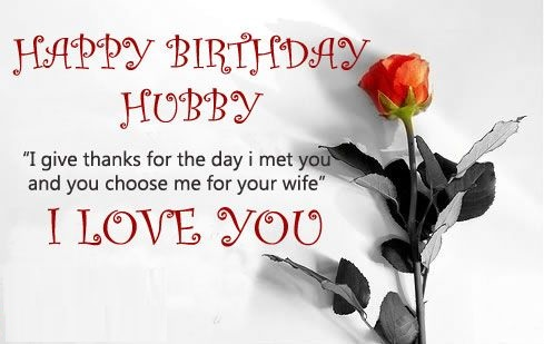 I Give Thanks For The Day Husband Birthday Wishes