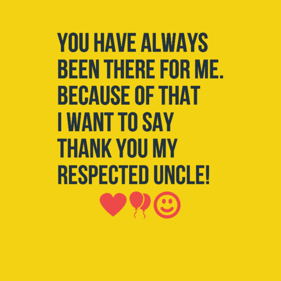 I Want To Say Thank You Uncle Birthday Wishes