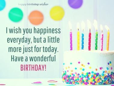 I Wish You Happiness Teacher Birthday Wishes