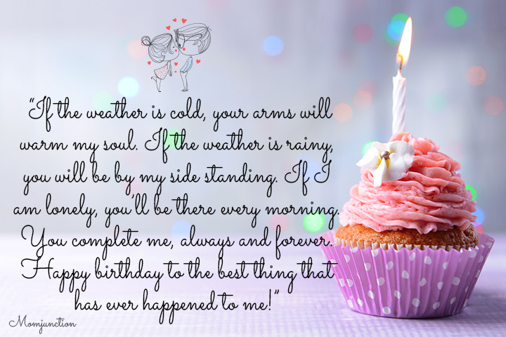 If The Weather Is Husband Birthday Wishes