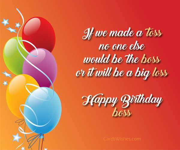 If We Made A Toss Boss Birthday Wishes