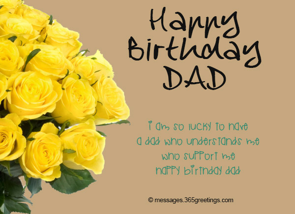 I'm So Lucky To Have Dad Birthday Wishes