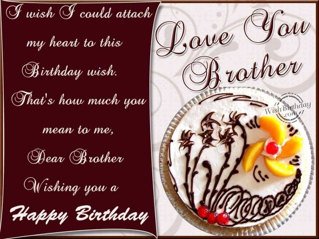 Love You Brother Wishes Brother Birthday Wishes