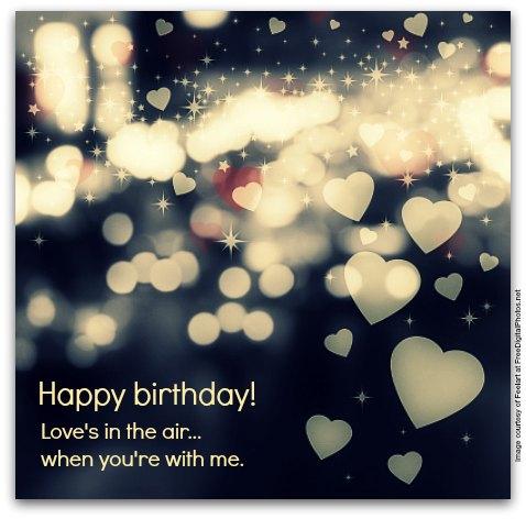 Love's In The Air Boyfriend Birthday Wishes