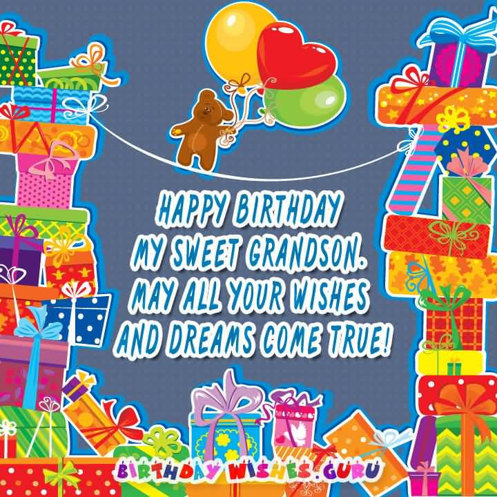 May All Your Wishes Grandson Birthday Wishes