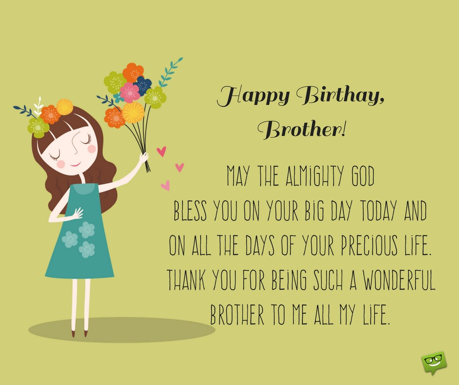May The Almighty God Brother Birthday Wishes