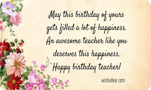 May This Birthday Of Teacher Birthday Wishes