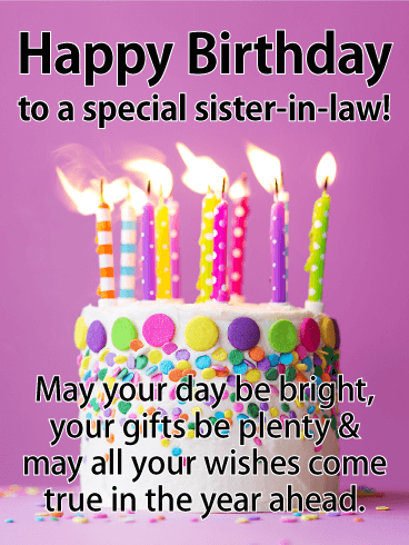 May Your Day Be Bright Sister In Law Birthday Wishes
