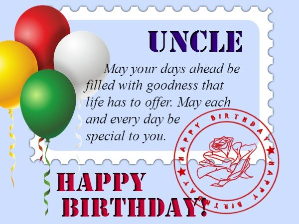 May Your Days Ahead Be Uncle Birthday Wishes