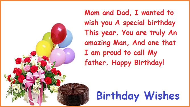 Mom And Dad I Wanted Parents Birthday Wishes