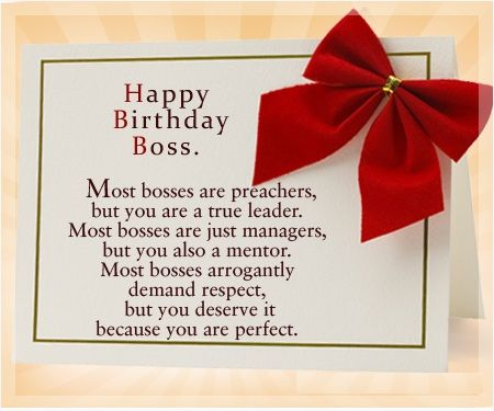 Most Bosses Are Preachers Boss Birthday Wishes