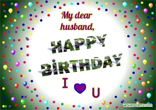 My Dear Husband Happy Birthday Husband Birthday Wishes