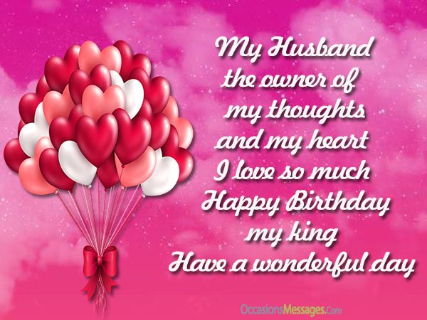 My Husband The Owner Husband Birthday Wishes